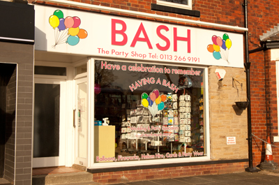 Bash (Party Shop) Shopping in Roundhay, Leeds LS8 2AL March 31