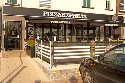 Pizza Express Restaurant Shopping In Roundhay Leeds Ls8