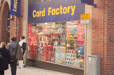 Card factory greeting card shop shopping in city centre leeds ls1 card factory city centre shop front photo m4hsunfo